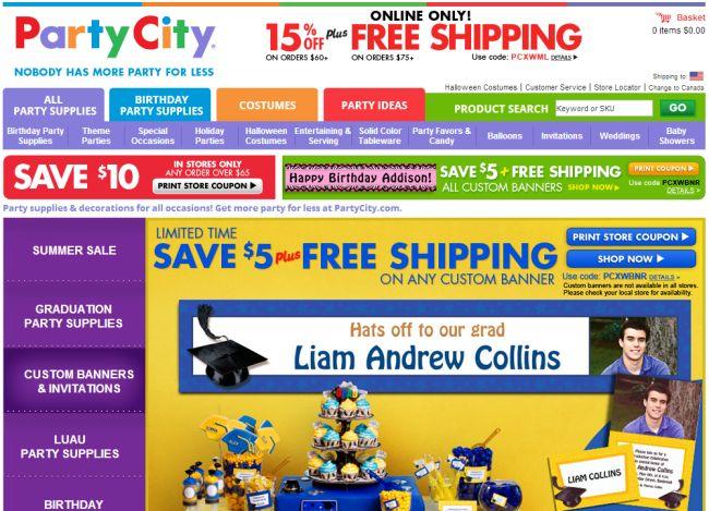 Интернет-магазин Partycity.com