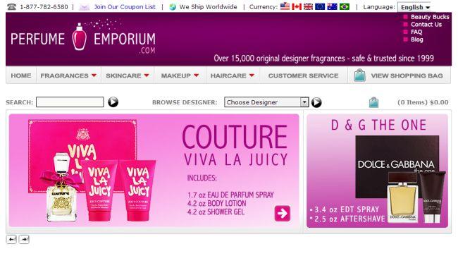 Интернет-магазин Perfumeemporium.com