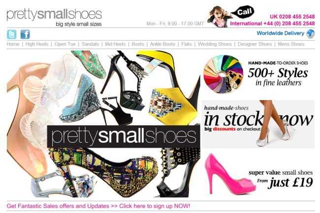Интернет-магазин Pretty-small-shoes.com