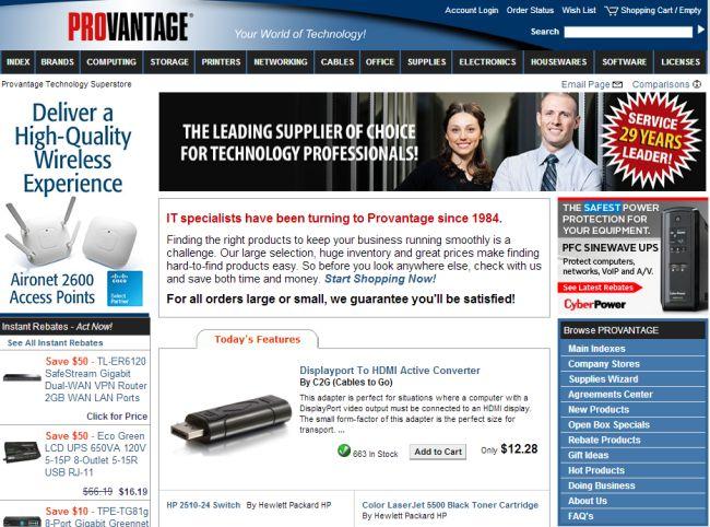 Интернет-магазин Provantage.com