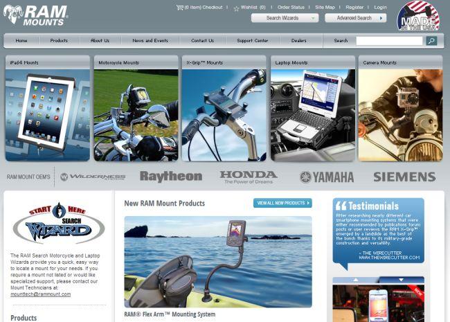 Интернет-магазин Ram-mount.com