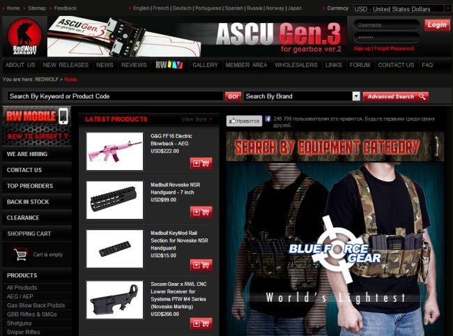 Интернет-магазин Redwolfairsoft.com