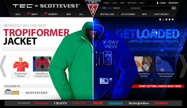 Интернет-магазин Scottevest.com