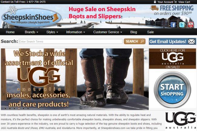 Интернет-магазин Sheepskinshoes.com