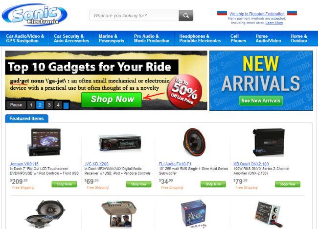 Интернет-магазин Sonicelectronix.com