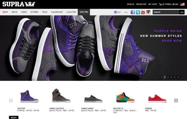 Интернет-магазин Suprafootwear.com