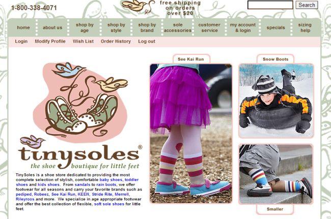 Интернет-магазин Tinysoles.com