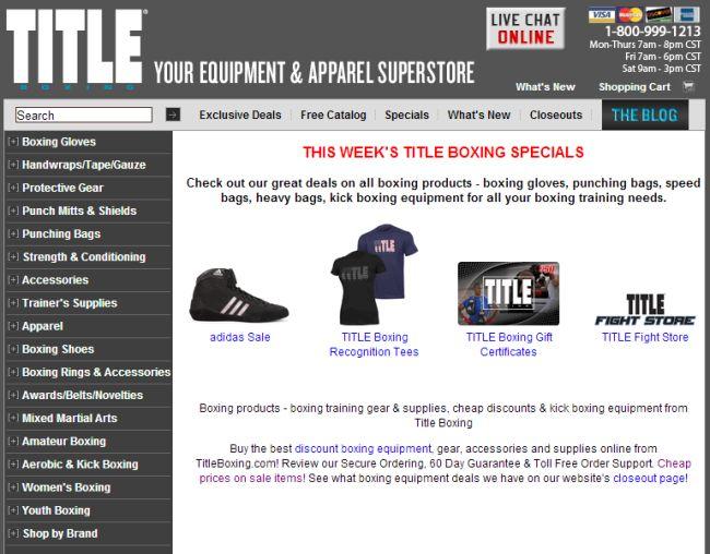 Интернет-магазин Titleboxing.com