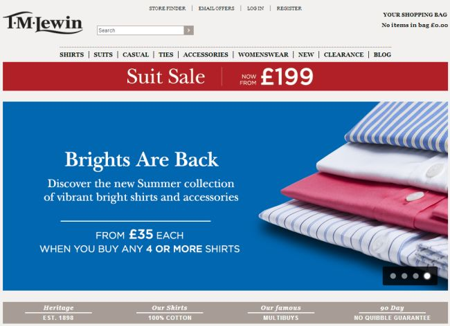Интернет-магазин Tmlewin.co.uk