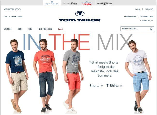 Интернет-магазин Tom-tailor.de