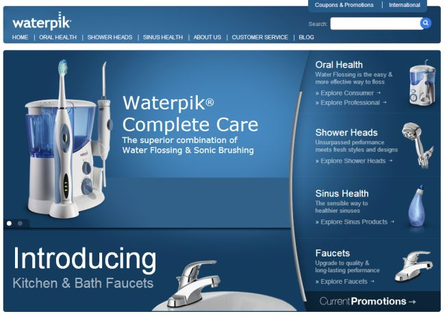 Интернет-магазин Waterpik.com