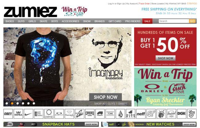 Интернет-магазин Zumiez.com