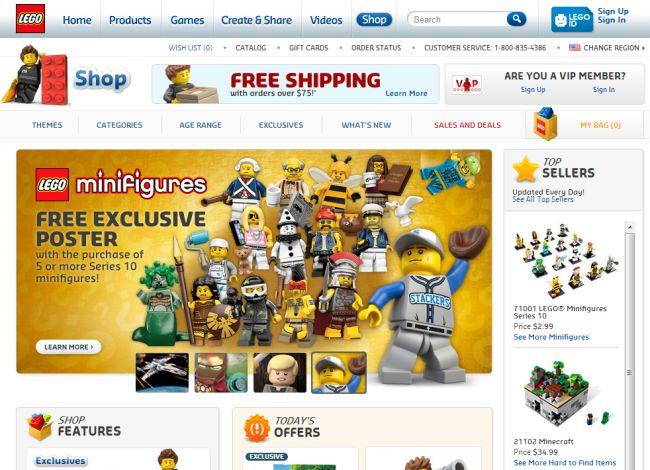 Интернет-магазин Lego.com