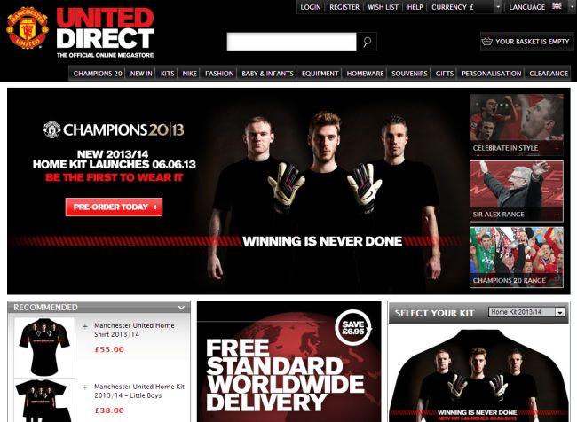 Интернет-магазин Store.manutd.com