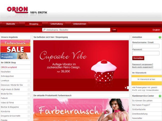 Интернет-магазин shop.orion.de