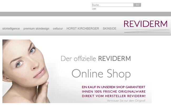 Интернет-магазин Shop.reviderm.de