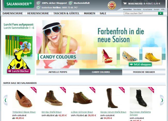 Интернет-магазин Schuhe.salamander.de