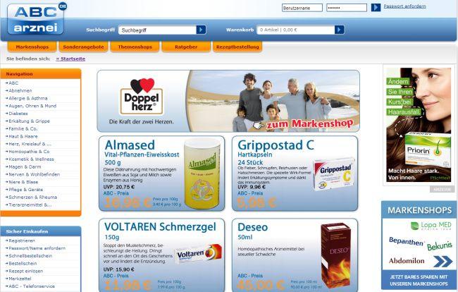 Интернет-магазин Abc-arznei.de