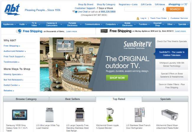 Интернет-магазин ABT.com