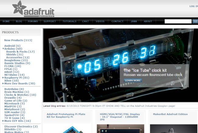 Интернет-магазин Adafruit.com