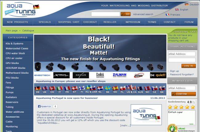 Интернет-магазин Aquatuning.de