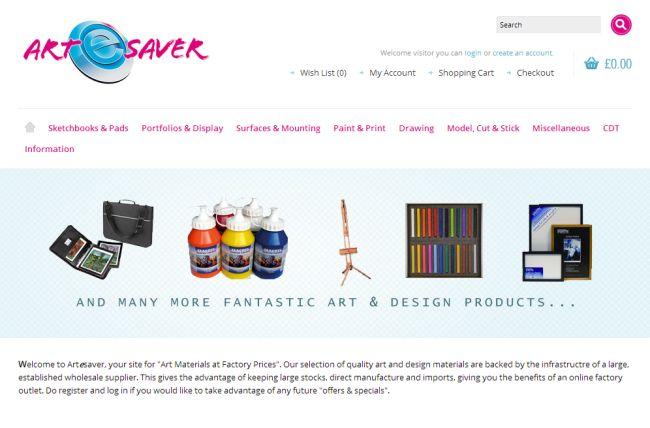 Интернет-магазин Artesaver.co.uk