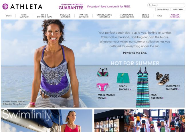 Интернет-магазин Athleta.gap.com