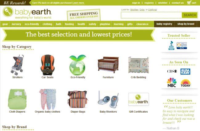 Интернет-магазин Babyearth.com
