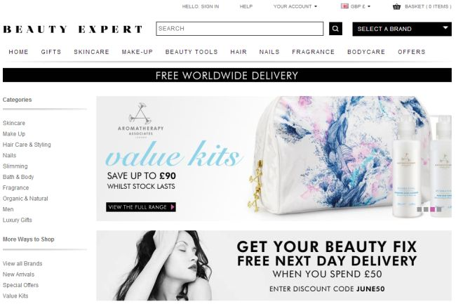 Интернет-магазин Beautyexpert.co.uk