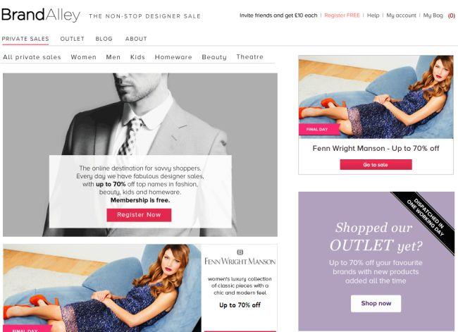 Интернет-магазин Brandalley.co.uk