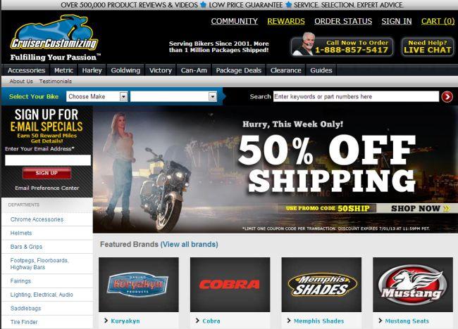 Интернет-магазин Cruisercustomizing.com