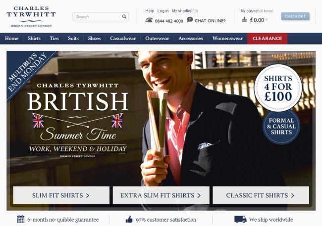 Интернет-магазин Ctshirts.co.uk