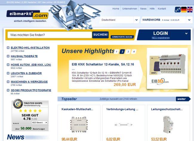 Интернет-магазин Eibmarkt.com
