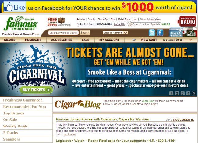 Интернет-магазин Famous-smoke.com