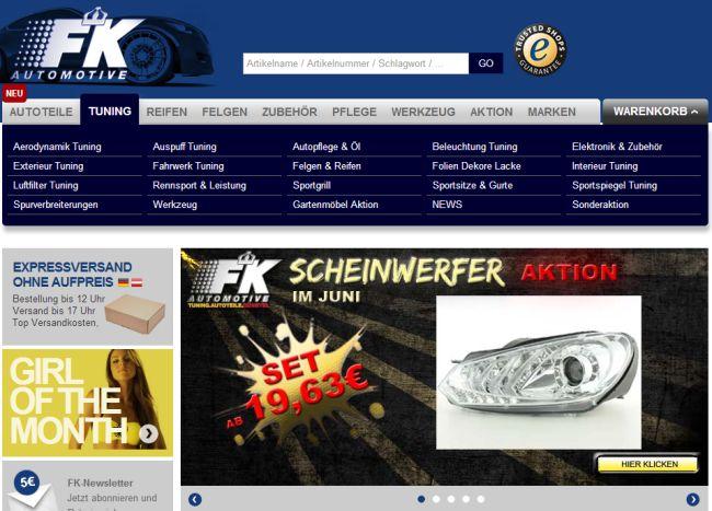 Интернет-магазин Fk-shop.de