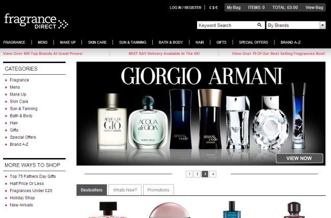 Интернет-магазин Fragrancedirect.co.uk