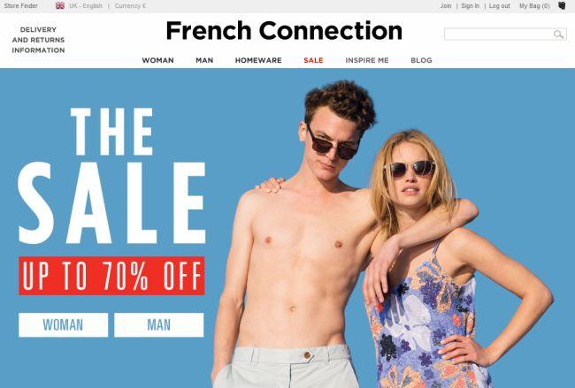 Интернет-магазин Frenchconnection.com