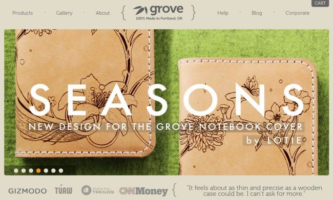 Интернет-магазин Grovemade.com