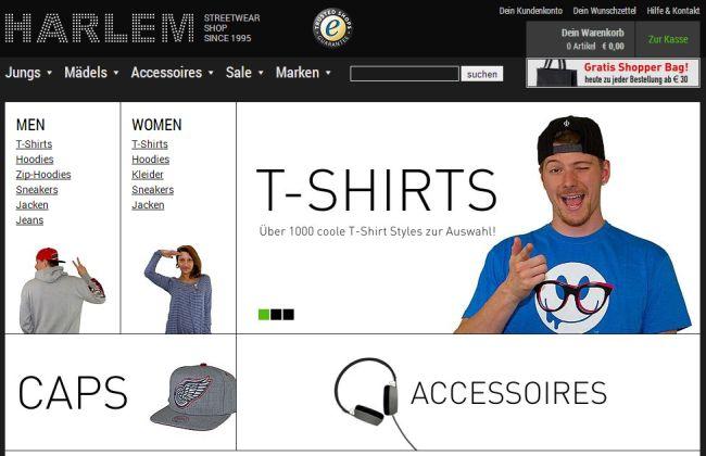 Интернет-магазин Harlem-stores.de