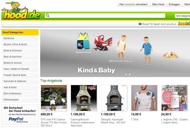 Интернет-магазин Hood.de