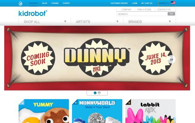 Интернет-магазин Kidrobot.com