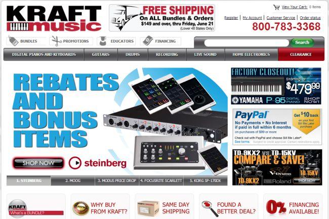 Интернет-магазин Kraftmusic