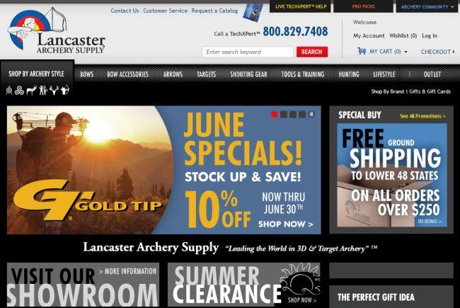 Интернет-магазин Lancasterarchery.com