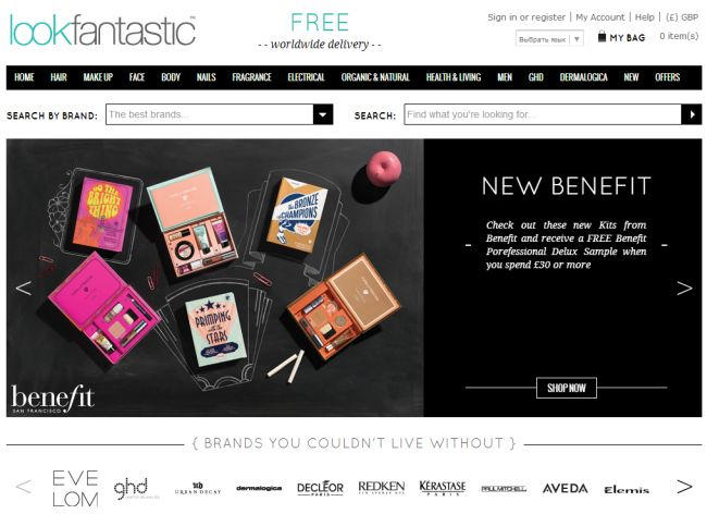 Интернет-магазин Lookfantastic.com