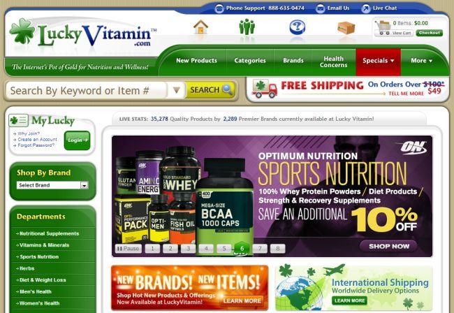 Интернет-магазин Luckyvitamin.com