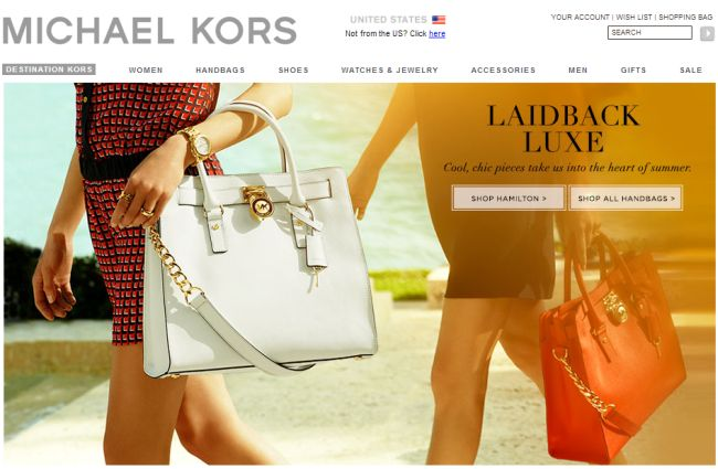 Интернет-магазин Michaelkors.com