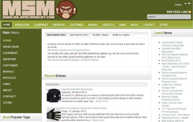 Интернет-магазин Milspecmonkey.com