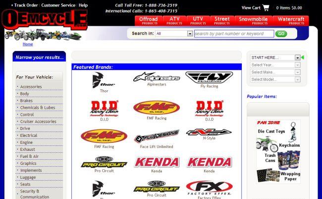 Интернет-магазин Oemcycle.com