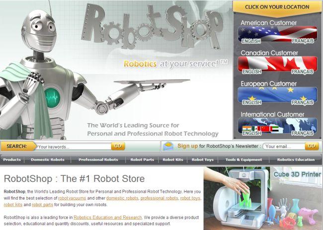 Интернет-магазин Robotshop.com