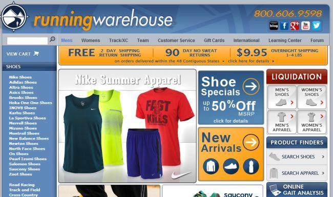 Интернет-магазин Runningwarehouse.com